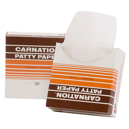 "Carnation® Patty Paper - 5.5"" x 5.5"""