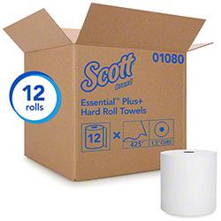 "Scott® Essential Plus Hard Roll Towel - 8"" x 425', White"
