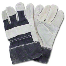 Safety Zone Leather Patched Palm Gunn Cut Glove