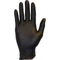 Safety Zone Premium Textured Powder Free Black Nitrile Glove