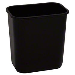 Continental Commercial Plastic Wastebasket -13 5/8 Qt,Black