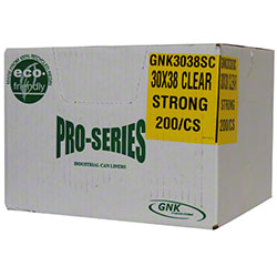 Clear Garbage Bags - 30 x 38, Strong