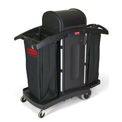 Rubbermaid® High Security Housekeeping Cart - Black