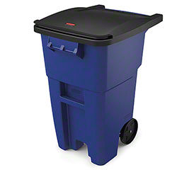 Rubbermaid® BRUTE® Rollout Cart - 50 Gal. w/ Lid, Blue