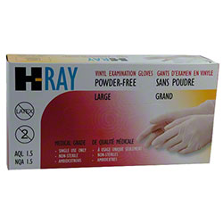 Wayne H-Ray Clear Powder Free Vinyl Exam Glove - Large