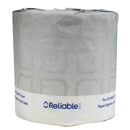 "Reliable® 2 Ply Toilet Tissue - 4 1/2"" x 3"""