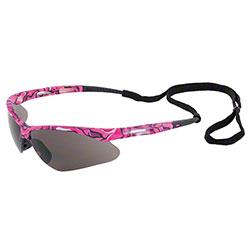 ERB® Annie Safety Glasses - Pink Camo Frame/Gray Lens