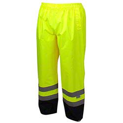Pyramex® RRWP31 Series Hi-Vis Lime Rainwear Pants - Large