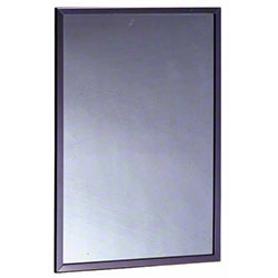 "Bobrick B-165 Series Framed Mirror - 18"" x 30"""