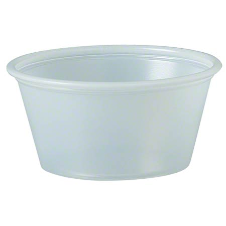Solo® Polystyrene Soufflé Portion Cup - 2 oz., Translucent