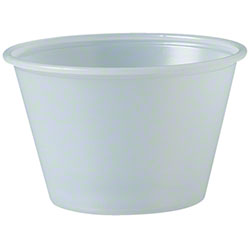 Solo® Polystyrene Soufflé Portion Cup - 4 oz., Translucent