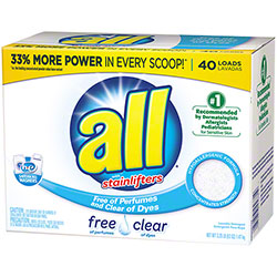 all® Free & Clear Powder Laundry Detergent w/Stainlifters® - 3.25 lbs.