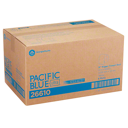 PACIFIC BLUE ULTRA MINI ROLL  TOWEL 9x400 WHITE 6/CS