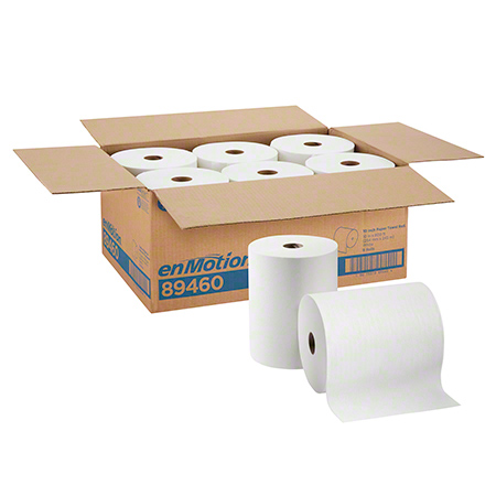 ENMOTION ROLL TOWEL 10x800 WHITE 6/CS