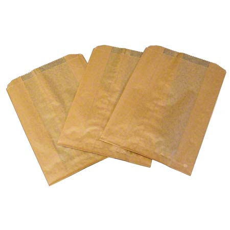 WAXED KRAFT RECEPTACLE LINER 7.5x10x3 500/CS
