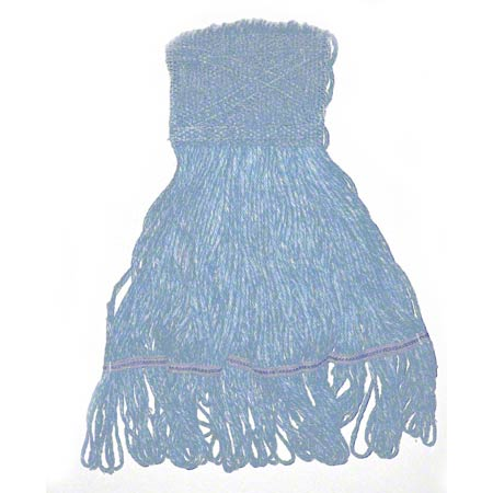 Carolina Mop Raycot 4 Ply Looped-End Mop - Large, Blue, Wide