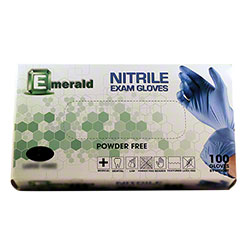 Emerald Powder-Free Nitrile 3.5 mil Exam Glove - Large