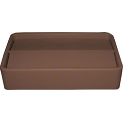 Impact® 23 Gal. Thin Bin™ Brown Swingtop Lid
