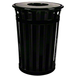 Witt Oakley Outdoor Slatted Waste Receptacle w/Flat Top