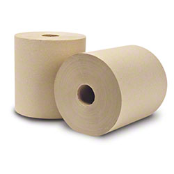 """WausauPaper® EcoSoft™ Roll Towel - 8"""" x 800', Natural"""