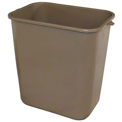 Impact® Rectangular Soft-Sided Wastebasket - 28 Qt., Beige