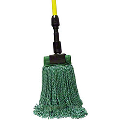 SSS® MicroTec 4-Ply Looped-End Wet Mop - Large, Green