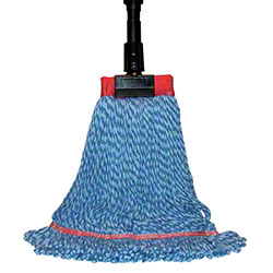 """SSS® MicroTec Looped End Wet Mop - Large, 5"""", Blue"""