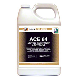 SSS® Ace 64 Neutral Disinfectant & Detergent - Gal.