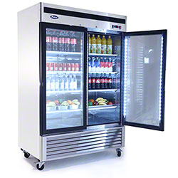 Atosa Glass Door Merchandiser Refrigerator - 47.1 cu ft.
