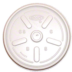 Dart® White Vented Lid For 10, 12 oz.