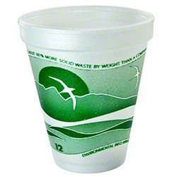 Dart® Horizon® Foam Cup - 12 oz., Forest Green