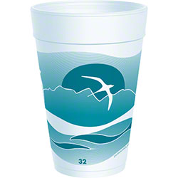 Dart® Horizon® Foam Cup - 32 oz., Teal