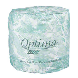 "Allied West Optima® 445 Toilet Tissue - 4.3"" x 3.75"""