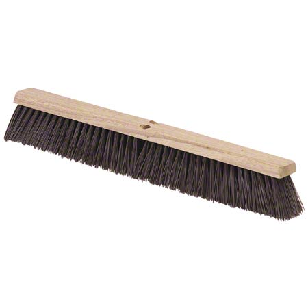 "18"" STIFF MAROON POLY PUSH BROOM"