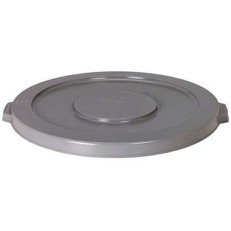 32 GALLON ROUND HUSKEE LID GREY 3201