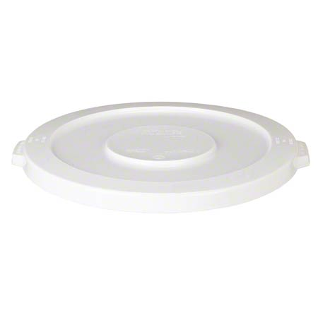 32 GALLON ROUND HUSKEE LID WHITE