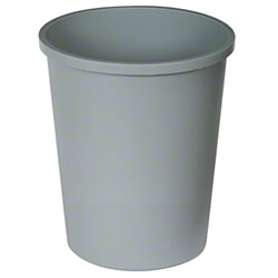 Continental Round Commercial Wastebasket - 44 3/8 Qt., Grey