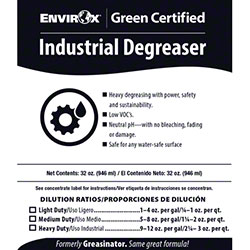 EnvirOx® Industrial Degreaser Concentrate Secondary Label
