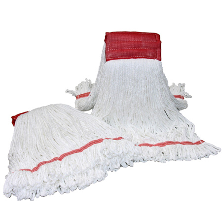 1033 #16 LOOPED MICROFIBER MOP WHITE - MEDIUM