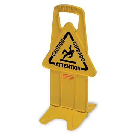 """9S09 STABLE SAFETY SIGN W/ """"CAUTION"""" YELLOW"""