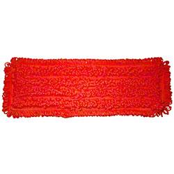 "SSS® NexGen PK Pocket Microfiber Mop Pad - 18"", Red"