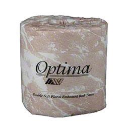 "Allied West Optima® Premium 550 Toilet Tissue -4.5"" x 4.0"""
