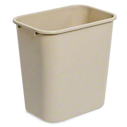 "delamo® Slim ""Mo"" Waste Can - 23 Gal., Beige"
