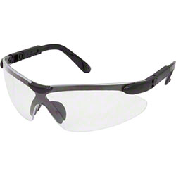 Safety Zone Safety Glasses - Clear Lens, Black Frame