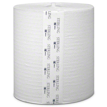 "SSS® Sterling Select White Hardwound Roll Towel - 8""x1000'"