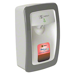 SSS® FoamClean Collection TouchFree M-Style 1000-1250 mL Dispenser - White w/Gray Trim