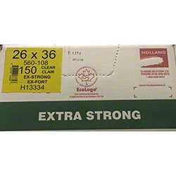 Holland Extra Strong Garbage Bag - 26 x 36, Clear