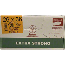 Holland Extra Strong Garbage Bag - 26 x 36, Black