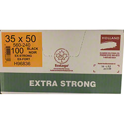 Holland Extra Strong Garbage Bag - 35 x 50, Black