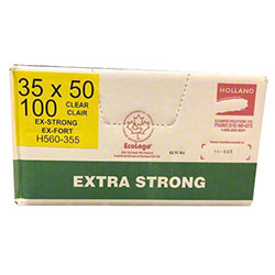 Holland Extra Strong Garbage Bag - 35 x 50, Clear